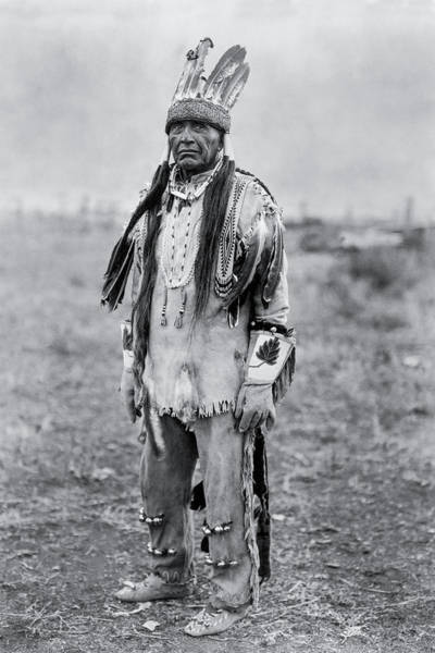 Indigenous Wall Art - Photograph - Klamath Indian Man Circa 1923 by Aged Pixel
