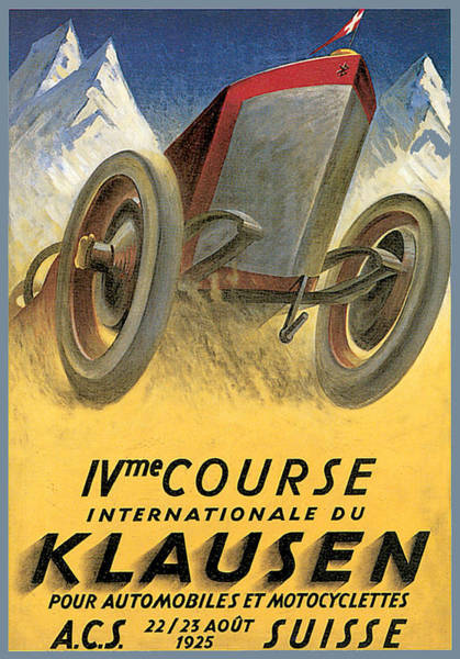 Photograph - Klausen Automobile by Vintage Automobile Ads and Posters