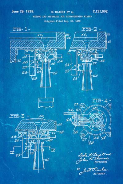 Seamen Photograph - Kleist Fibreglas Patent Art 1938 Blueprint by Ian Monk
