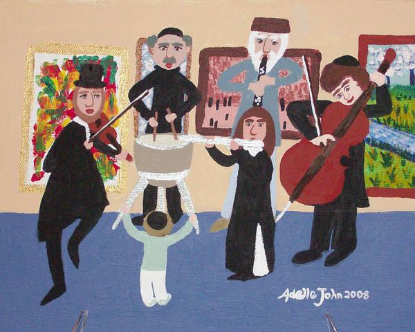 Klezmer Band Wall Art - Painting - Klezmer Band At Museum by Adinah John