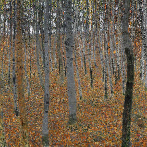 Painting - Klimt Beechwood Forest by Granger