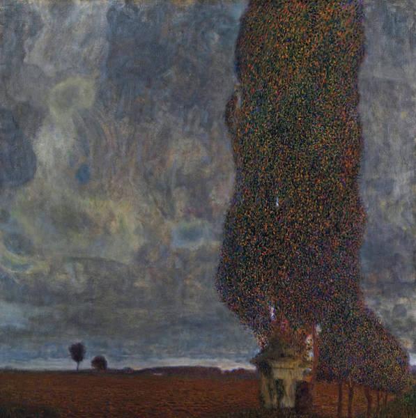 Painting - Klimt The High Poplar by Granger