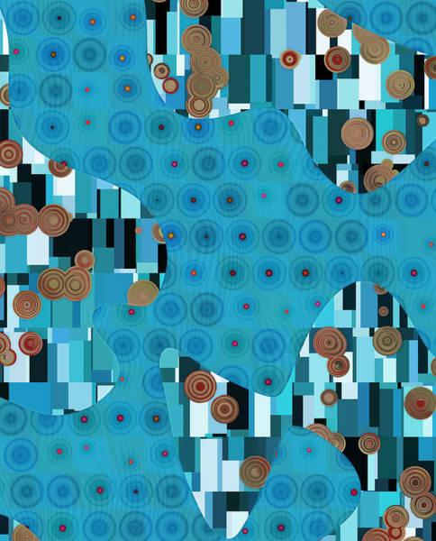 Turquoise Digital Art - Klimtolli - 02trq1bgap by Variance Collections