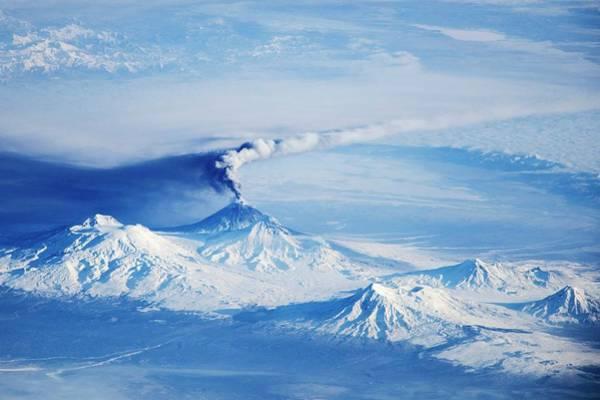 Kamchatka Photograph - Kliuchevskoi Eruption by Nasa