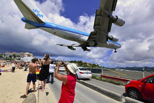 Photograph - Klm Landing At St Maarten 5  by Matt Swinden