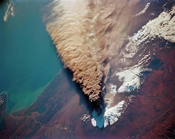 Kamchatka Photograph - Klyuchevskaya Volcano Eruption by Nasa/science Photo Library