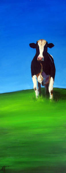 Barnyard Animal Painting - Knee Deep by Cari Humphry
