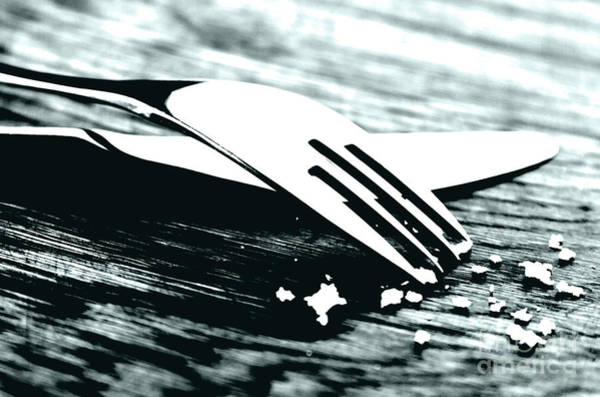 Kitchen Utensil Photograph - Knife And Fork by Blink Images