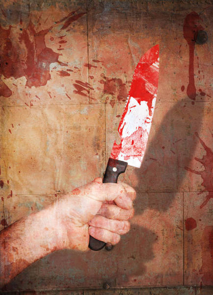 Bloody Fist Photograph - Knife by Barnaby Chambers