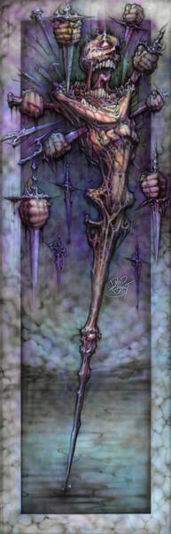 Wall Art - Painting - Knife Pain by David Bollt