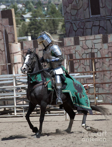 Charge Photograph - Knight In Shining Armor by Juli Scalzi