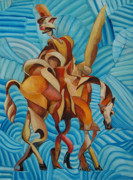 Man Of La Mancha Wall Art - Painting - Knight Of The Blue Byways by Michael Wilson