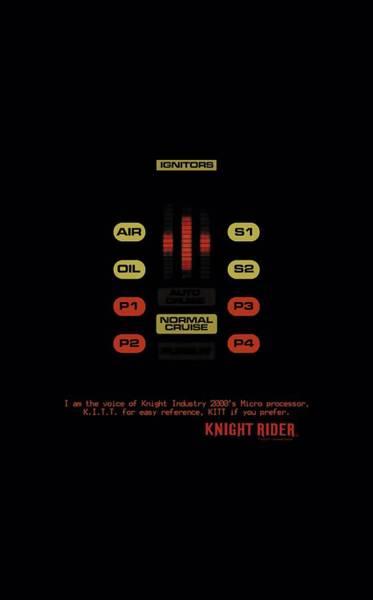 Shows Digital Art - Knight Rider - Kitt Consol by Brand A