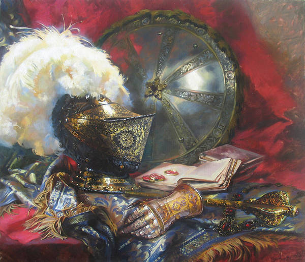 Similar Painting - Knight Still Life by Svetlana Goryacheva
