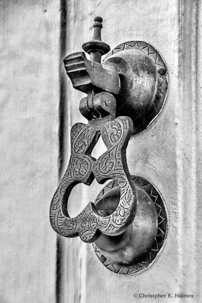Photograph - Knock Knock - Bw by Christopher Holmes
