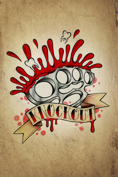 Wall Art - Drawing - Knockout by Samuel Whitton