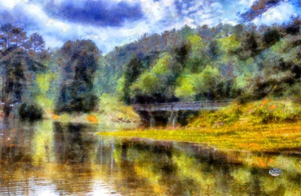Digital Art - Knox Bridge On Allatoona by Daniel Eskridge