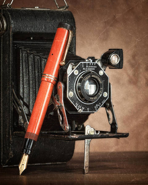 Film Still Photograph - Kodak And Parker Still Life by Tom Mc Nemar
