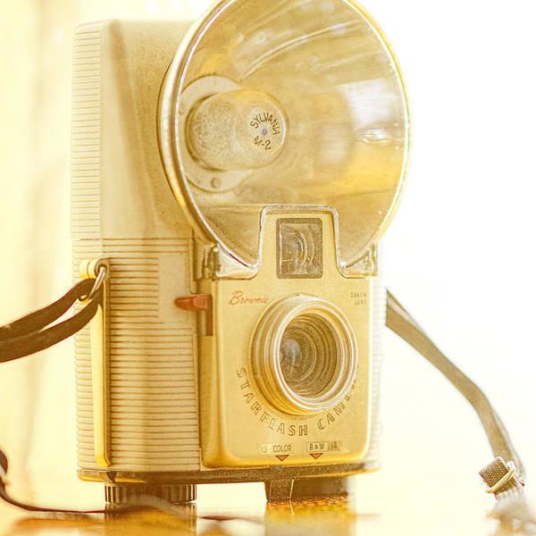 Wall Art - Photograph - Kodak Brownie Starflash Camera by Jon Woodhams