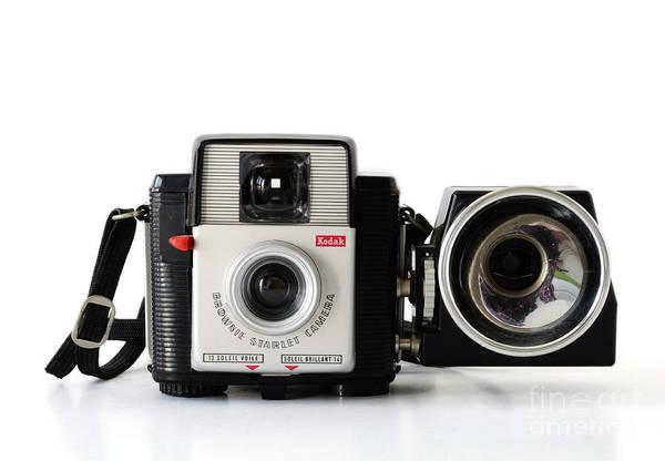 Photograph - Kodak Brownie Starlet Whit Flash Unit by RicardMN Photography