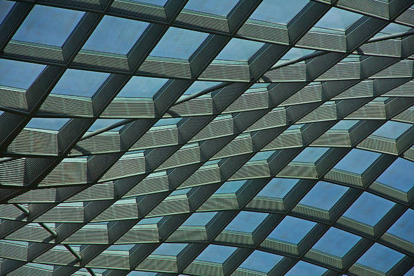 Photograph - Kogod Courtyard Ceiling #6 by Stuart Litoff