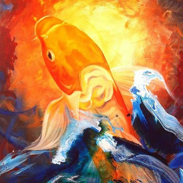 Japanese Koi Photograph - Koi Fish Sale!  This One Doesn't Fit by Ocean Clark