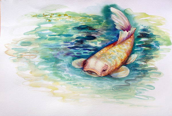 Painting - Koi I by Ashley Kujan