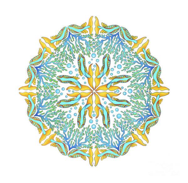 Aquatic Wall Art - Painting - Koi Mandala by Stephanie Troxell