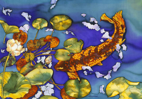 Painting - Koi Pond by Artimis Alcyone