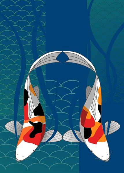 Digital Art - Koi Pond by Marie Sansone