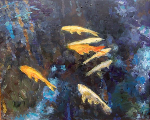 Painting - Koi by Susan Moore