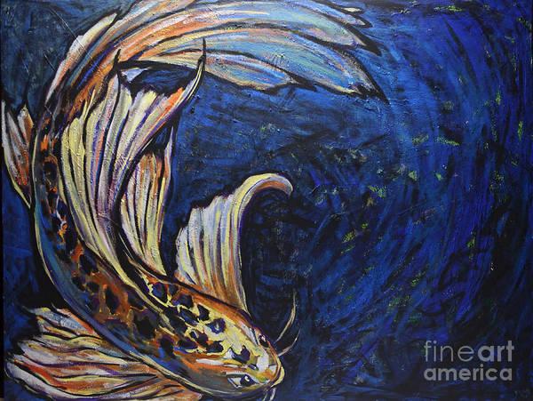 Painting - Koi Swirl by Rebecca Weeks Howard