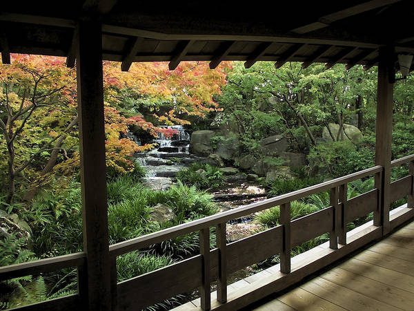 Kansai Wall Art - Photograph - Kokoen Garden - Himeji City Japan by Daniel Hagerman