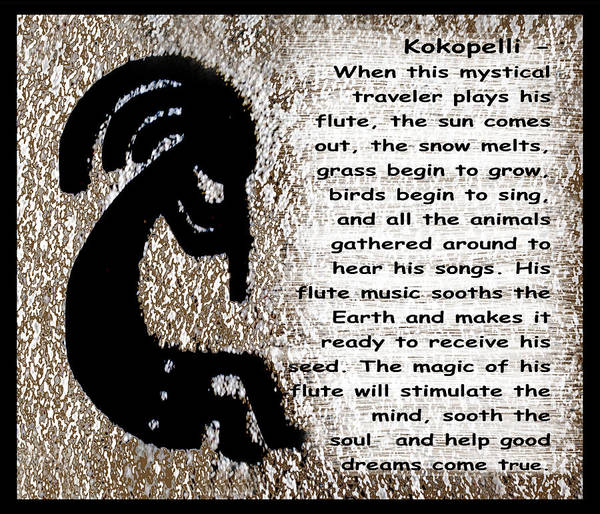 Wall Art - Digital Art - Kokopelli by Barbara Snyder
