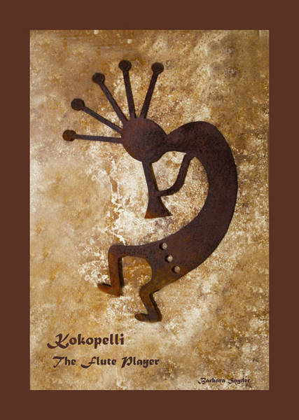 Wall Art - Painting - Kokopelli The Flute Player Duvet by Barbara Snyder