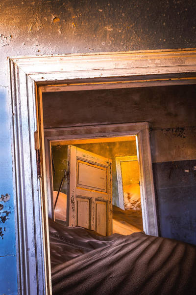 Ghost Town Photograph - Kolmanskop - Blue Room by Xenia Ivanoff-erb