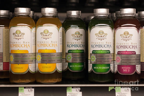Photograph - Kombucha Tea On Store Shelf by Gunter Nezhoda