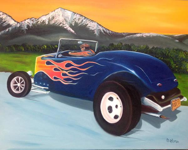 Pikes Peak Painting - Kool 33 by Dean Glorso