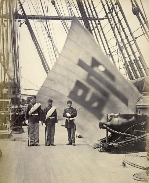 Wall Art - Photograph - Korea Military Flag, 1871 by Granger
