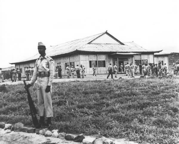 Honour Wall Art - Photograph - Korean Armistice Building by Underwood Archives