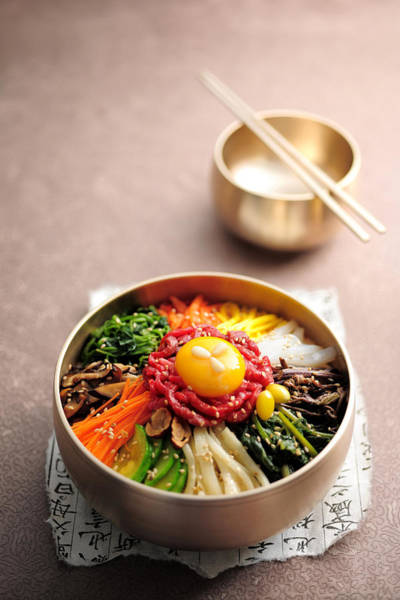 Asian Food Photograph - Korean Dish, Bibimbop by Cooksimage / Multi-bits