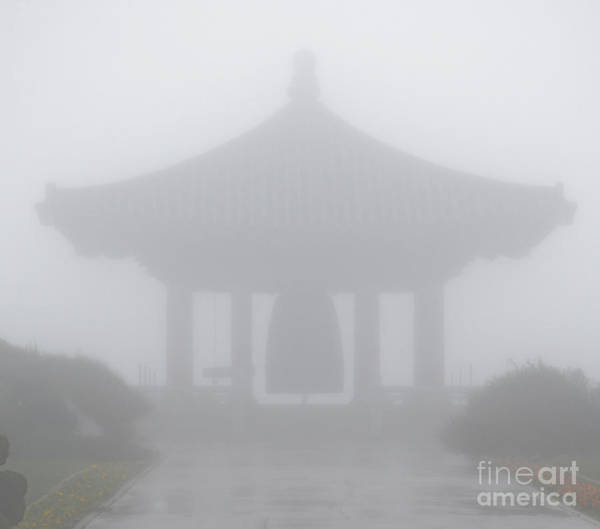 Photograph - Korean Friendship Bell In The Mist by Donna Greene