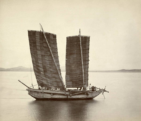 Wall Art - Photograph - Korean Junk Ship, 1871 by Granger