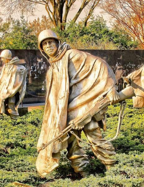Photograph - Korean War Memorial  by Nick Zelinsky