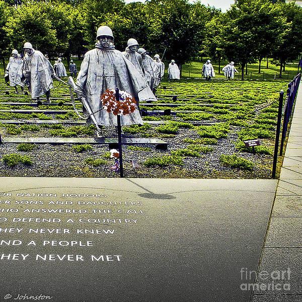 Painting - Korean War Memorial Washington D.c. by Bob and Nadine Johnston