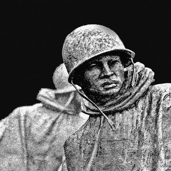 Painting - Korean War Veterans Memorial by Bob and Nadine Johnston