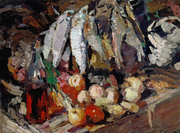 Russian Impressionism Wall Art - Painting - Korovin Fishes, 1916 by Granger