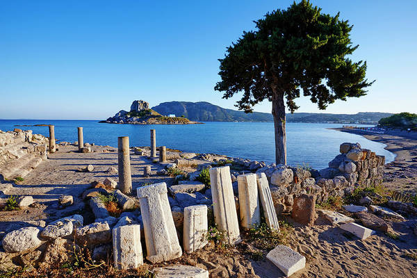 Dodecanese Photograph - Kos, Kefalos Bay, Agios Stefanos Church by Tuul & Bruno Morandi