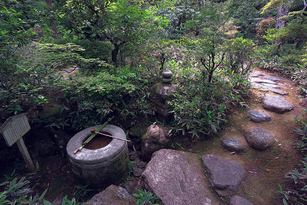Wall Art - Photograph - Koto-in Temple Tsukubai Water Basin by Daniel Hagerman