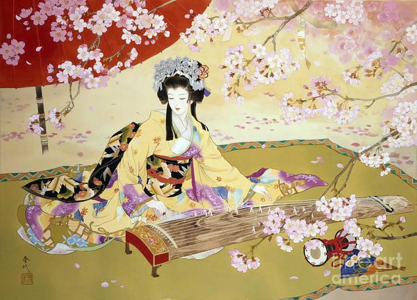 Kimono Digital Art - Kotono by MGL Meiklejohn Graphics Licensing